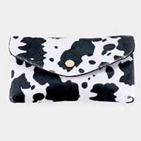 Cow Animal Pattern Faux Leather Wallet on Chain Crossbody / Belt Bag / Fanny Pack