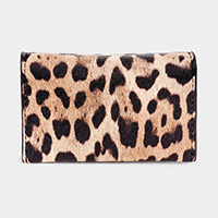 Leopard Pattern Faux Leather Card Holder Wallet