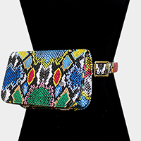 Snake Pattern Faux Leather Clutch / Belt Bag / Fanny Pack