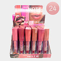 24PCS - Matte Lip Glosses