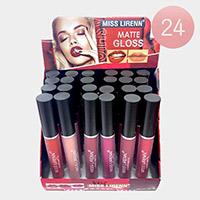 24PCS - Liquid Matte Lip Glosses