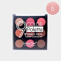 6PCS - 9Colors Palette Shading and Redefine Make Up Contour Kits