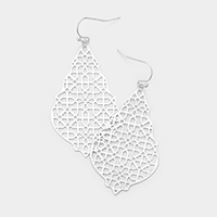 Filigree Metal Petal Dangle Earrings