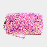 Glitter Sequin Cosmetic Pouch Bag