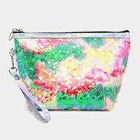 Colorful Glitter Sequin Cosmetic Pouch Bag