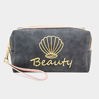 Shell Point Beauty Cosmetic Pouch Bag