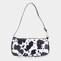 Cow Pattern Faux Leather Shoulder Bag
