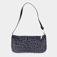Leopard Pattern Faux Leather Shoulder Bag
