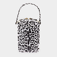 Leopard Pattern Faux Leather Crossbody / Tote Bag