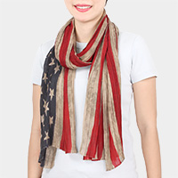 American USA Flag Oblong Scarf