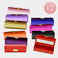 12PCS - Solid Mirror Lipstick Cases