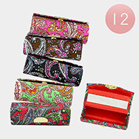 12PCS - Paisley Mirror Lipstick Cases