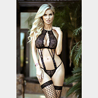 Night Moves Lace 2-Piece Lingerie