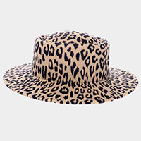 Leopard Pattern Pork Pie Hat