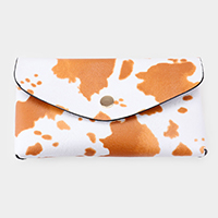 Cow Pattern Faux Leather Wallet on Chain Crossbody / Belt Bag / Fanny Pack