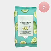 6PCS - Cucumber Cleansing Wipes