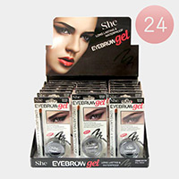 24PCS - Long Lasting Waterproof Dark Brown Eyebrow Gels