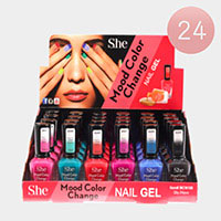 24PCS - Mood Color Change Nail Polish