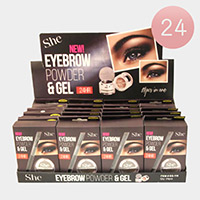 24PCS - Brown Eyebrow Powder and Gels