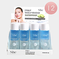 12PCS - Eye and Lip Waterproof Makeup Removers
