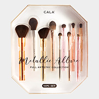 10PCS - Metallic Allure Full Artistry Collection Brush Tool Set