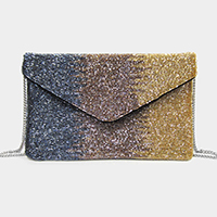 Ombre Beaded Crossbody / Clutch Bag