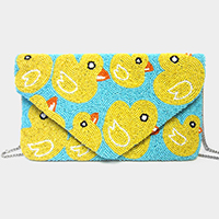Duckling Seed Beaded Crossbody / Clutch Bag