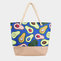 Avocado Print Tote Bag