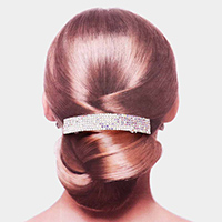 6Rows Rhinestone Rectangle Barrette