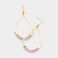Irregular Teardrop Bead Dangle Earrings