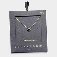 Secret Box _ 14K Gold Dipped Enamel Heart Pendant Necklace