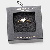 Secret Box _ 14K Gold Dipped Enamel Heart Ring