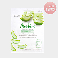 12PCS - Aloe Vera Essence Facial Mask Sheets