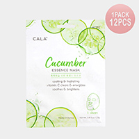 12PCS - Cucumber Essence Facial Mask Sheets