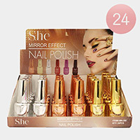 24PCS - Mirror Effect Nail Polish