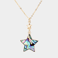 Abalone Star Pendant Necklace