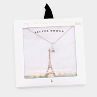 Secret Box _ Metal Eiffel Tower Pendant Necklace