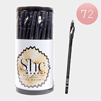 72PCS - Waterproof Dark Brown Eye and Lip Pencils with Sharpeners
