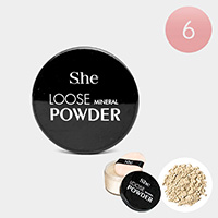 6PCS - Banana Loose Mineral Powders