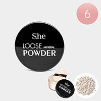 6PCS - Pearl Luminizer Loose Mineral Powders