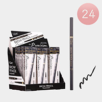 24PCS - Waterproof Long Lasting Black Eyebrow Pencils