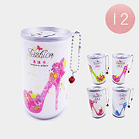 12PCS - Stiletto Heel Print Portable Wet Wipes