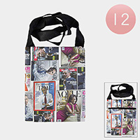 12PCS - Obama Print Crossbody Bags