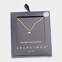 Secret Box _ 14K Gold Dipped Metal Disc Pendant Necklace