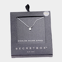 Secret Box _ Sterling Silver Dipped Metal Disc Pendant Necklace