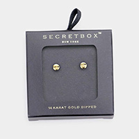 Secret Box _ 14K Gold Dipped Metal Disc Earrings