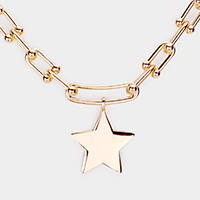 Metal Star Pendant Necklace
