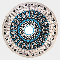 Mandala Print Multi-Way Round Beach Throw Towel