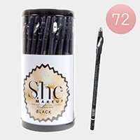 72PCS - Waterproof Black Eye and Lip Pencils with Sharpeners