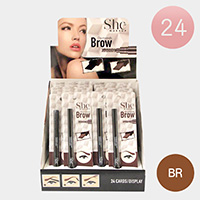 24PCS - Brown Eyebrow Pencils